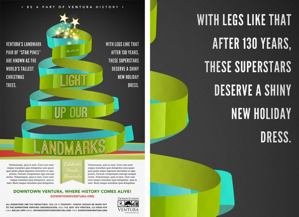 Light Up Our Landmarks poster | Design by Kelly Alexis Lewis