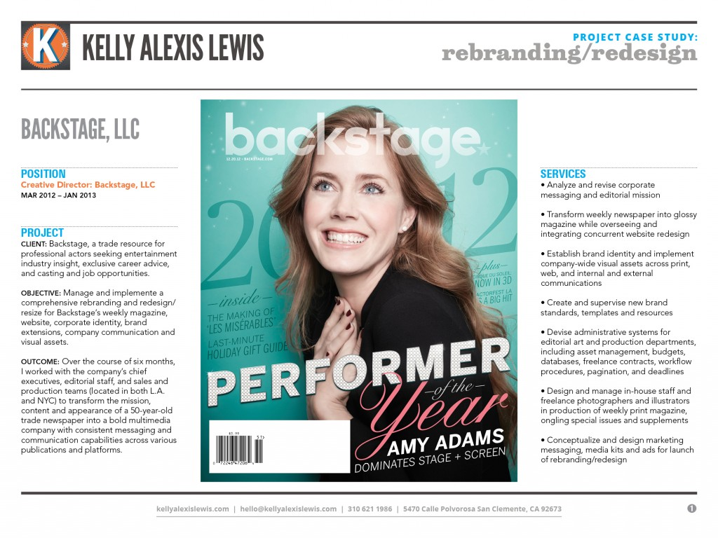 Backstage Redesign & Rebranding Project Case Study